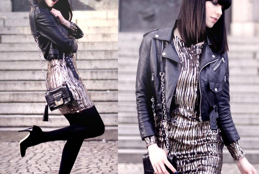 ロックテイストな海外レディースファッションスナップ