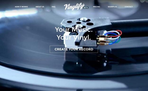 オリジナルのアナログレコードが手軽に作れるサービス「Vinylify」